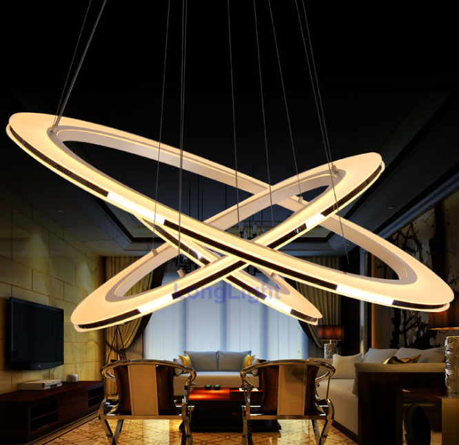New led chandelier modern chandeliers china lustre decorative pendant lamp living room dining - Modern pendant lighting for dining room ...