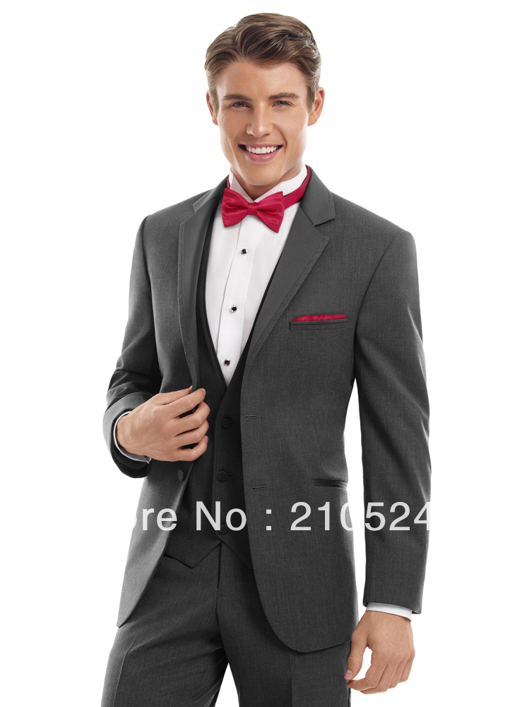 Light Grey Tuxedo Suit Prom Tuxedos Men Light Grey