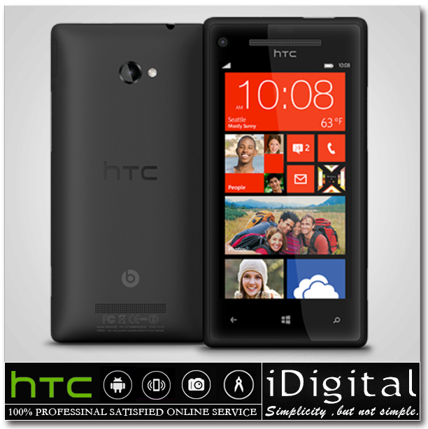 "Original HTC 8X Unlocked Windows Mobile Phone 4.3""IPS 16GB Dual Core 1.5GHz 1GB RAM 8.0MP 3G GPS WIFI Smartphone Refurbished(China (Mainland))"