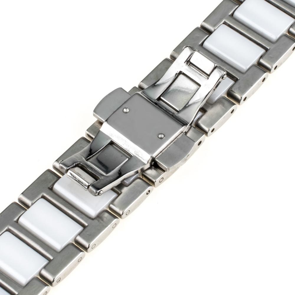 18 мм 20 мм 22 мм Керамические Часы Band + Инструмент для Гамильтон Бабочка Пряжка Ремешок Наручные Пояса Браслет Черный розовое Золото Белый