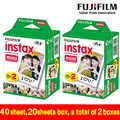 Genuine 40 Sheets White Edge Fuji Fujifilm Instax Mini 8 Film For 8 50s 7s 7