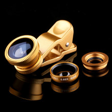 Universal Fisheye Lense Fish Eye Wide Angle 3 in 1 Mobile Phone Lens Camera Kit For Samsung GALAXY A3 A5 A5009 A7 A7000 A8 A8000