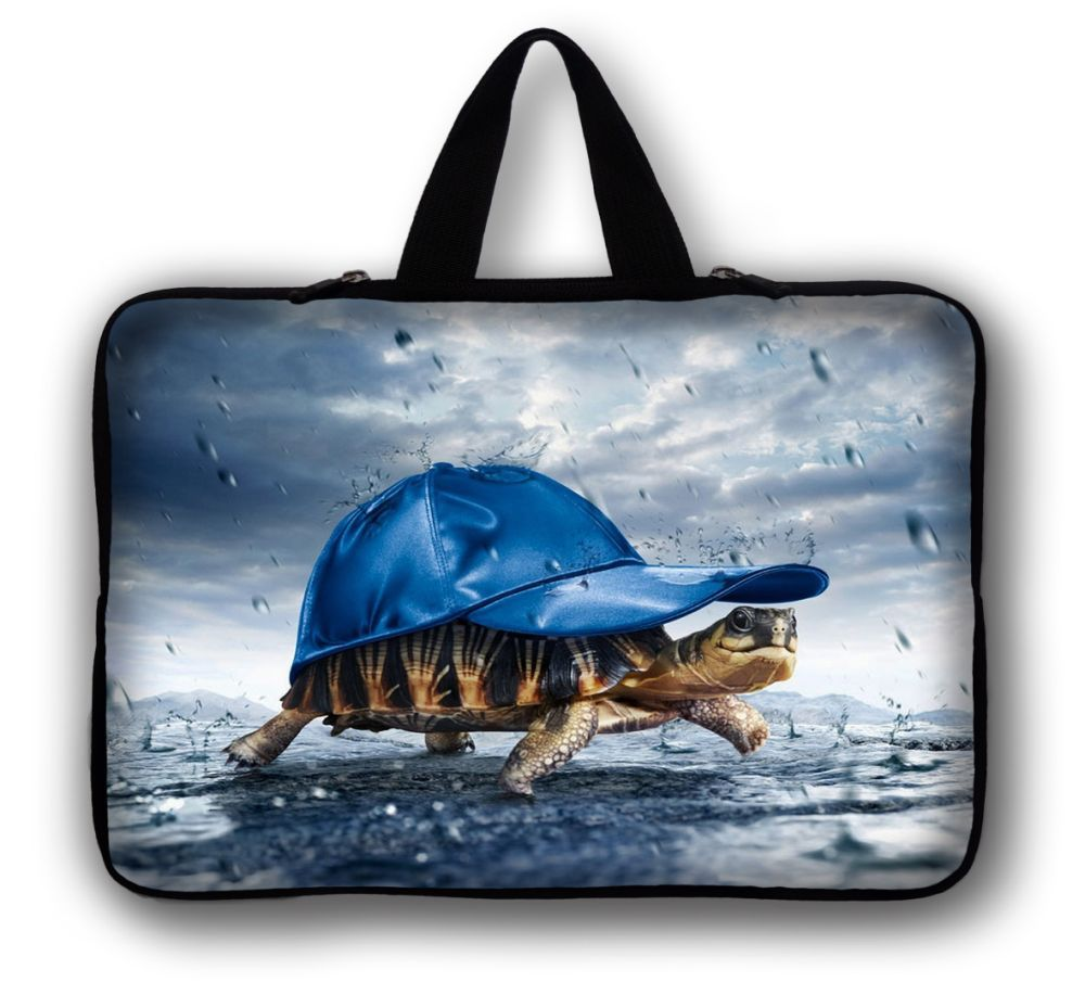 """Free Shipping Turtle 10"""" Laptop Sleeve Bag Case Pouch + Hide Handle For 10.1"""" ASUS Eee Pad TF10 Tablet PC(China (Mainland))"""