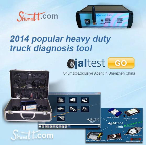 Powerfull Jaltest link diesel truck diagnostic scanner supports IVECO,RENAULT,Scania,Volvo,DAF,Man etc trucks(China (Mainland))