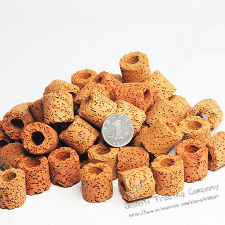 infrared porous bio- ring biocycle bacteria house ceramic ring infra red fish tank turtle tank filter material filter media 500g(China (Mainland))