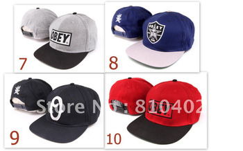 Freeshipping 2pcs Top Quality Product OBEY Snapback Caps, NEW Arrive Supreme Caps, Adult Snapback Hats, Adjustable Baseball Caps
