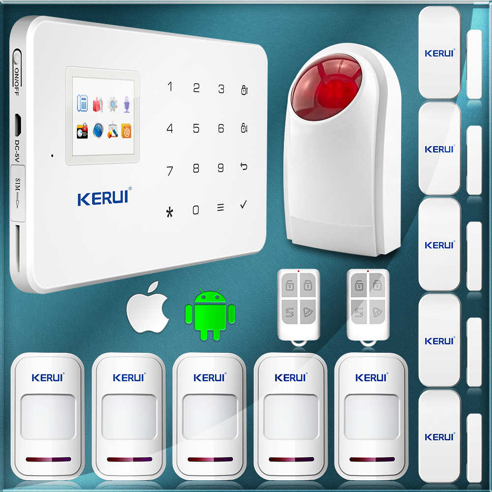 Гаджет  99 Wireless Zone Android Alarm Touch Keypad+LCD Display Screen GSM PSTN SMS Home Security Voice Burglar House Alarm Kerui G18 None Безопасность и защита