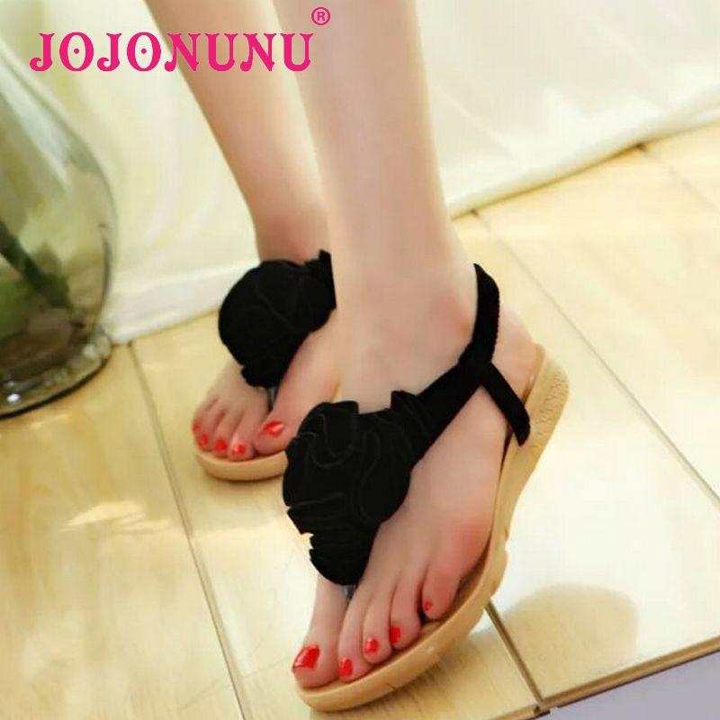 ladies summer bowtie flower flat sandals sexy pinch toe fashion female beach flip flops women shoes WA0089 size 36-40<br><br>Aliexpress