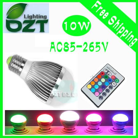 20pcs/lot AC85-265V 9W RGB Led Lighting Colorful LED Bulb Lamp Spotlight with Remote Control<br><br>Aliexpress