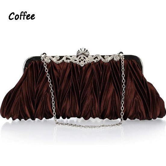 high quality diamond satin evening bags ladies wedding clutches purses bridal chain wallet women luxury party bag mini handbags