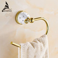 Free Shipping Towel Ring Solid Brass Copper Golden Finished Bathroom Accessories Products Towel Holder Towel bar