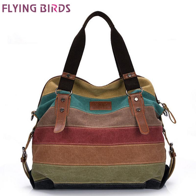FLYING BIRDS! women handbag famous brand women canvas bags shoulder Messenger Bag cool lady women's pouch bolsas LS1978(China (Mainland))