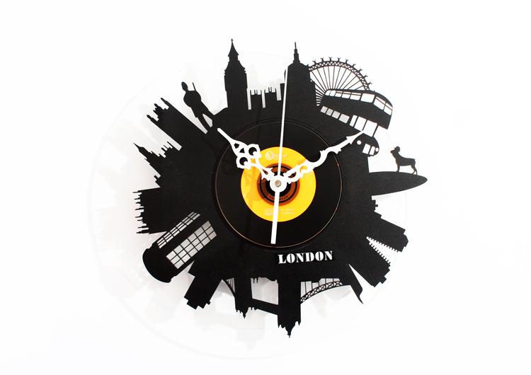 Modern Design London City Style Fashion CD Record Acrylic Wall Clock Novelty Home Decoration - Decor Shop store