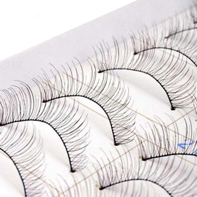 10 Pairs Of Reusable Natural and Regular Long False Eyelashes Artificial Fake EyeLashe False Lashes Cilios Posticos(China (Mainland))