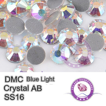 DMC Transfer Stones Blue Light AB SS16 Crystal AB Hotfix Rhinestones