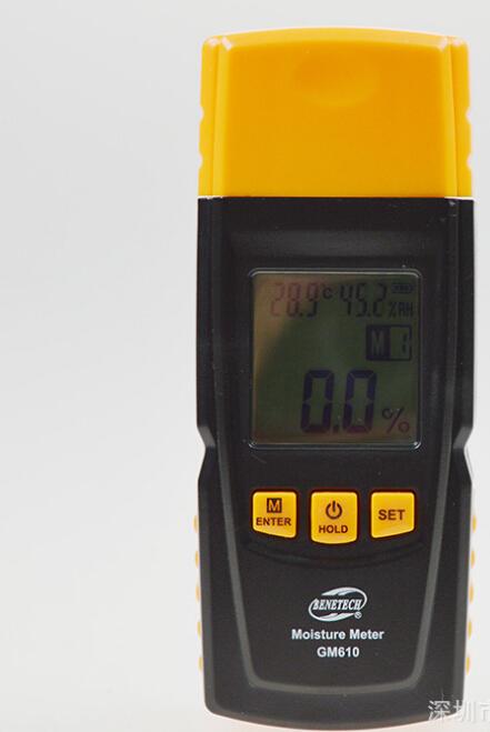Digital Wood Moisture Meter sawn timber hardened materials ambient temperature Moisture Meter(China (Mainland))