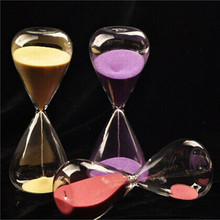 Hot Sale Fashion Beautiful Glass 10 minutes Sandglass Time Counter Count Down Timer Hourglass Clock Creative Gift Color Random(China (Mainland))