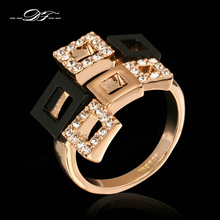 AAA Cubic Zircon Rings Wholesale 18K Rose Gold Plated Fashion Brand Party Crystal Retro Jewelry For