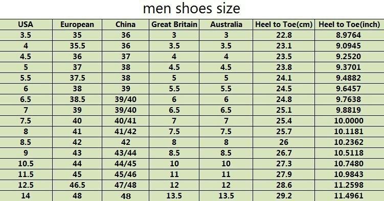 China Shoe Size Guide