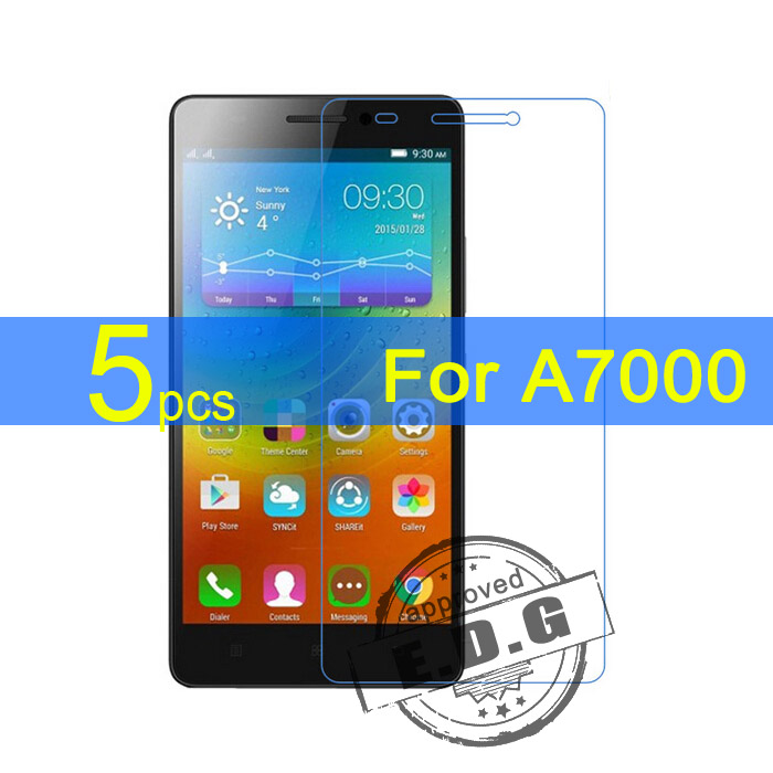 5pcs Gloss Ultra Clear LCD Screen Protector Film Cover For Lenovo A7000 Film  cloth