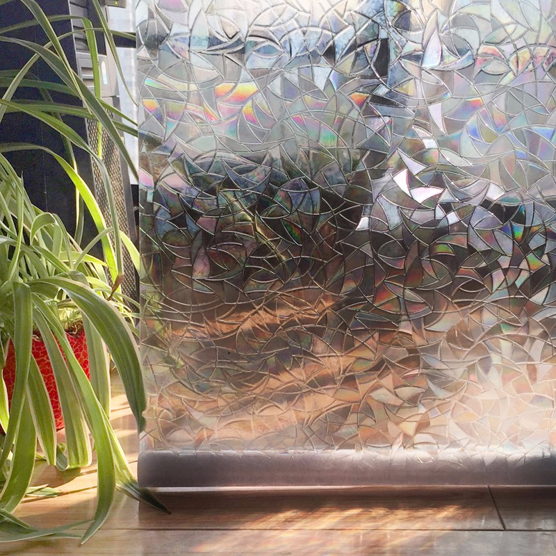 CottonColors Window Cover Films,Home Decorative No-Glue 3D Static Decorative Window Glass Stickers, 60 x 200Cm