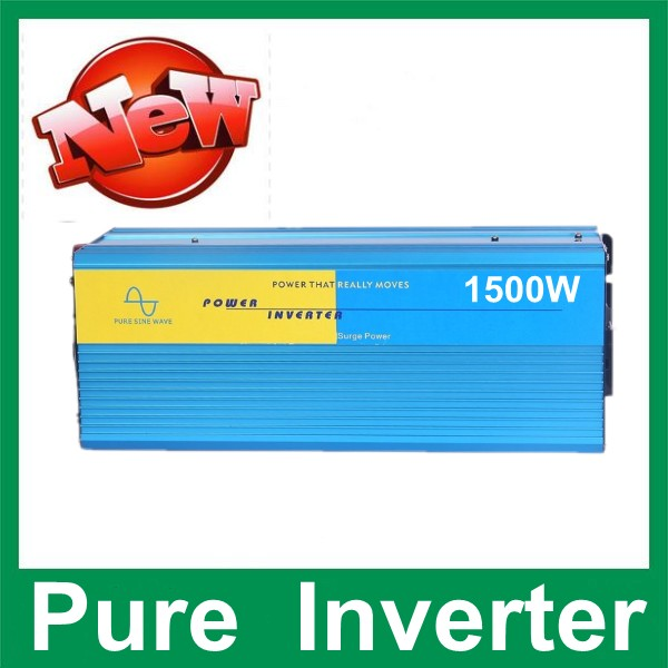 1500W pure sine wave inverter 12V DC TO 220V AC Pure Sine Wave Power Inverter,3000w Peak power inverter<br><br>Aliexpress