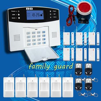 Бесплатная Доставка! Беспроводной APP SIM GSM Домашняя Охранная ЖК-Клавиатура GSM Сигнализация Датчик комплект Английский Spansih Русский голос