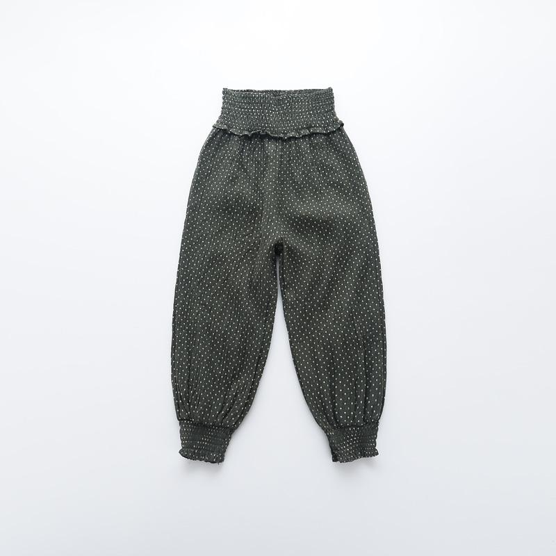 Baby Girls Cotton Fashion Pencil Pants Kids Autumn Spring Drawstring Loose Trousers Dot High Waist Children Clothing 5pcs/LOT<br><br>Aliexpress