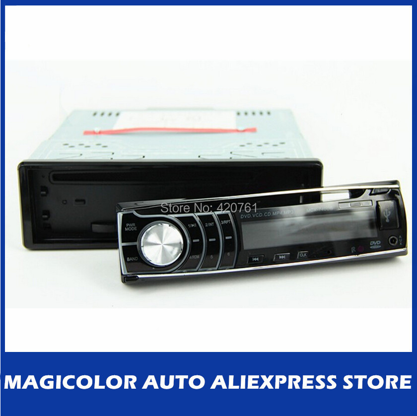 Free shipping detachable panel 4*50W cheap in dash 1 one din car DVD player with USB/SD slot(China (Mainland))