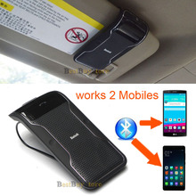 New Bluetooth Car Kit Handsfree set Multipoint Speakerphone works with 2 Mobiles phone in the same time with Mic & Speaker(China (Mainland))
