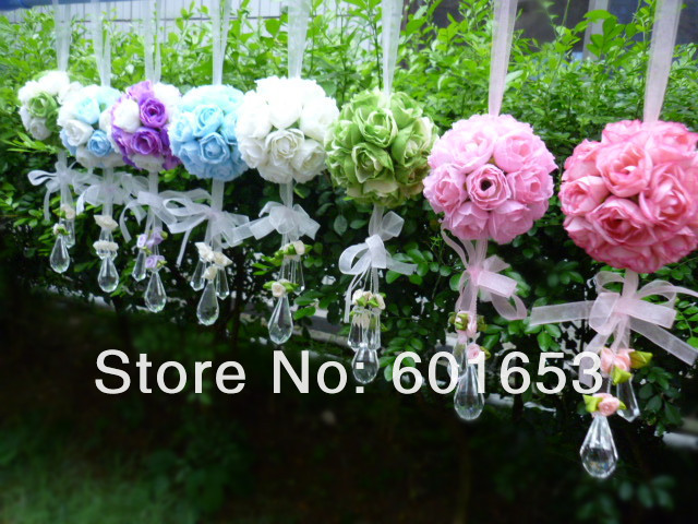 wedding flower ball Artificial flower rose ball silk flower Real Touch rose ball Home decorations(China (Mainland))