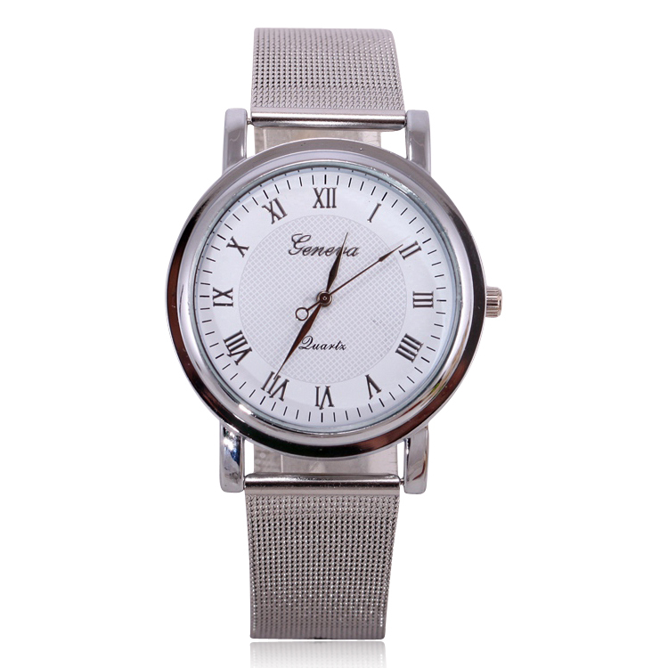 fashion brand silver steel band s
