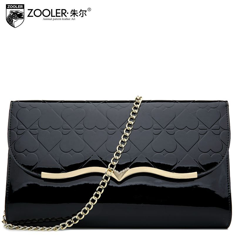 Фотография ZOOLER Brand 2015 Women Handbags Top Quality Genuine Leather Bag Fashion Chain Women Bag Glossy Cowhide Shoulder Messenger Bags