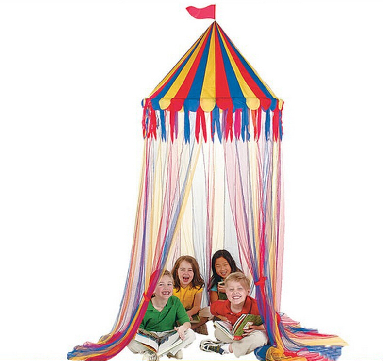 Top Circus Canopy Hanging Toy Tent For Children Play Game Tents Kids ...