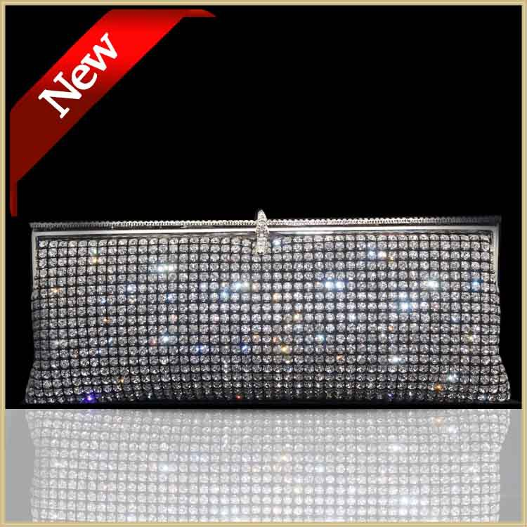 DHL Free Crystal Wedding Clutch Diamond Clutches Night Black Women Clutch Jeweled Ladies Evening Bag Wedding Party Gold/Sliver(China (Mainland))