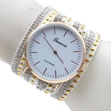 Relojes Mujer 2015 Fashion Casual Geneva rhinestone bracelet quartz watch women watches Lady dress wristwatches relogio
