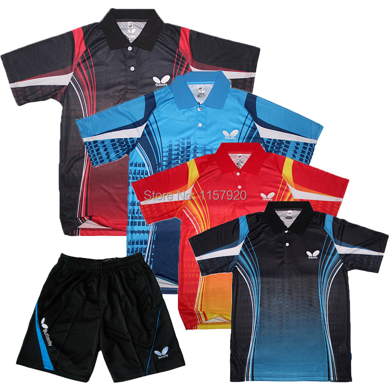 NEW Butterfly table tennis shirt Men / Cool Dry / relax shirts / TABLE TENNIS Clothes (shirt+shorts) / Tabel tennis jersey(China (Mainland))