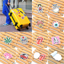 1 pc pvc sticker anime star plant pattern print skate laptop luggage car decorative sticker(China (Mainland))