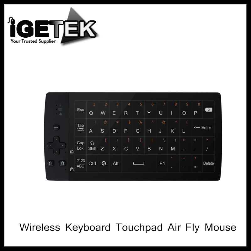 Professional 2.4G Wireless Keyboard Touchpad Air Fly Mouse Remote with Built-in Battery for Android TV Box PC(China (Mainland))