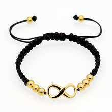 2016 Hot Sell Fashion Luxury Brand Jewelry Nylon Rope Beautiful Gold Bracelet Fine Jewelry Heart-shaped Bracelet For Woman(China (Mainland))