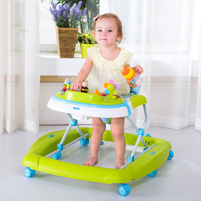 Hot Sale Baby Walker Multifunction Foldable Infant Feeding Rocking Seat Breathable Cushion Anti-Rollover Kids Walk Learning Aid(China (Mainland))
