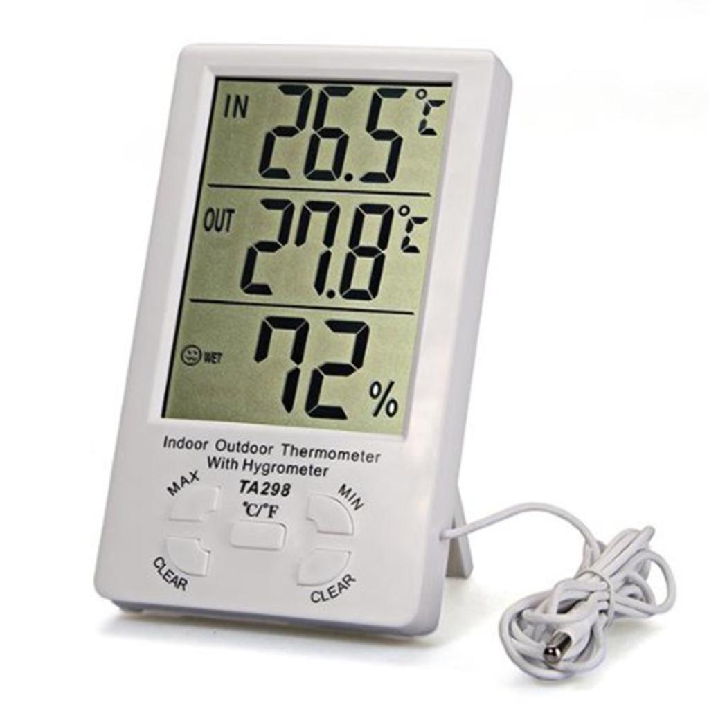Compra higrometro digital online al por mayor de china for Medidor de temperatura y humedad digital