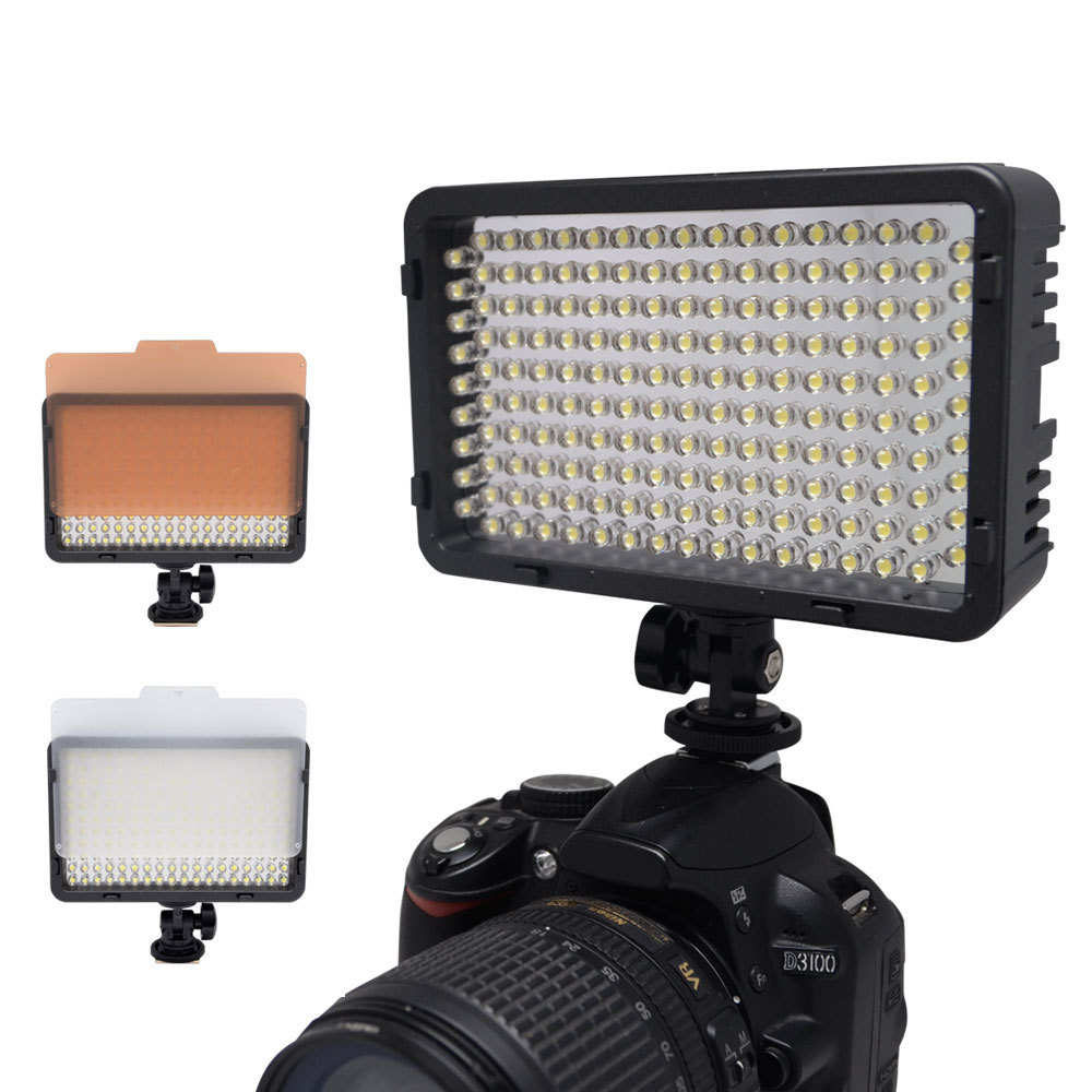Гаджет  Mcoplus 130 LED Video Light for Canon Nikon Sony Pentax Panasonic Samsung Olympus & DV Camera Comcorder VS CN-126 None Бытовая электроника