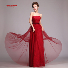 New 2015 marry long design lace fashion vestido de novia Wine red women's plus size vestidos longo evening dress(China (Mainland))