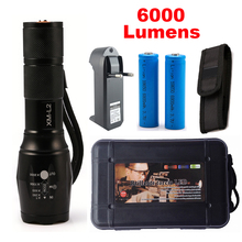 Lanterna CREE XM-L2 6000LM Tactical Flashlight Torch Zoom Linternas LED Flashlight  for 3xAAA or 1x 18650 Rechargeable Battery(China (Mainland))