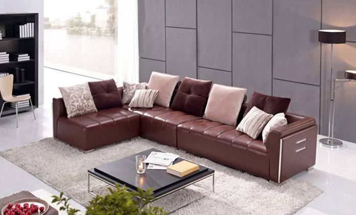 Hot Sale! Euro Design Sofa, made with Top Grain Leather L Shaped Corner Sectional Sofa  antique furniture L8031<br><br>Aliexpress