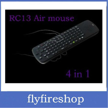 Free Shipping Built-in Mic Speaker RC13 2.4G Wireless Keyboard Air Fly Mouse Remote Control for Android TV Box Mini PC