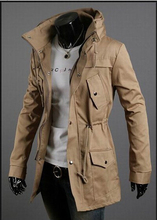 2015 New hot Autumn Brand Korean Men's Slim Fit Jacket,Fashion Casual Single Breasted Men's Long Wind Coat  4 color options(China (Mainland))