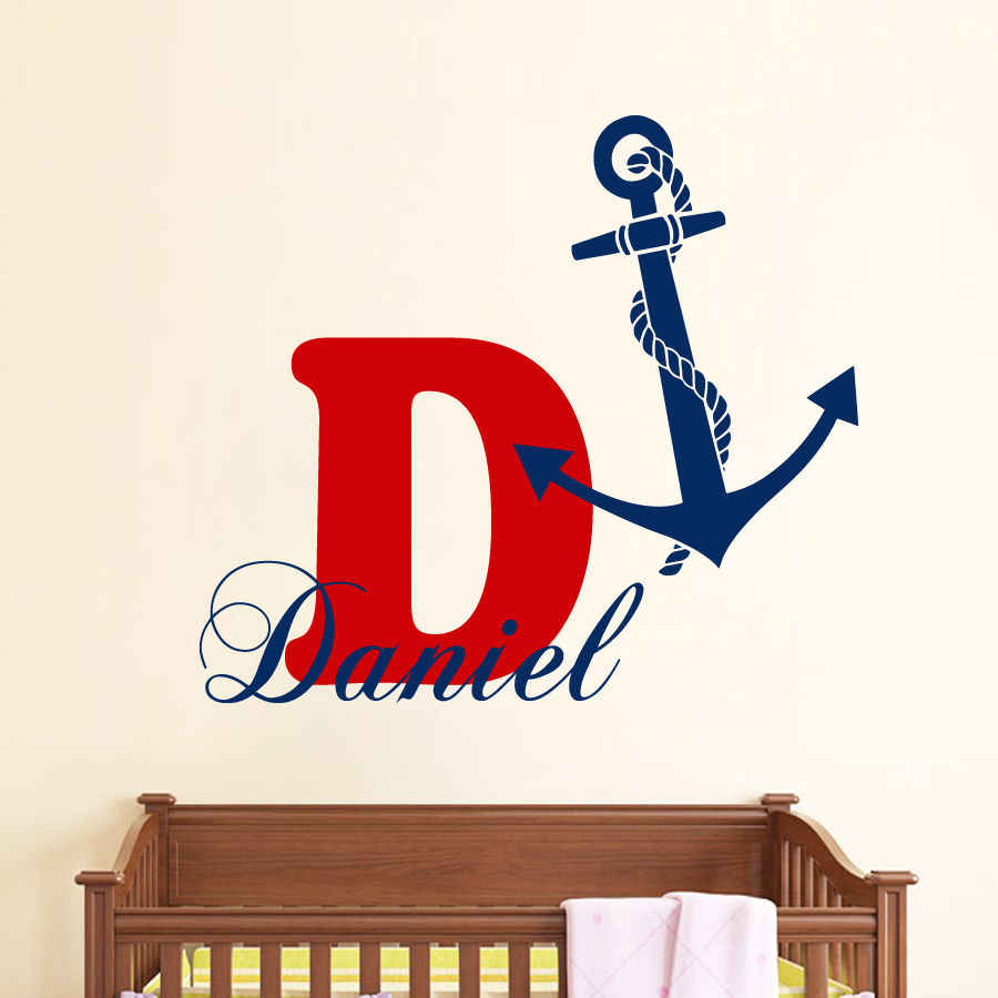 Online get cheap monogram wall decal for Cheap wall mural decals
