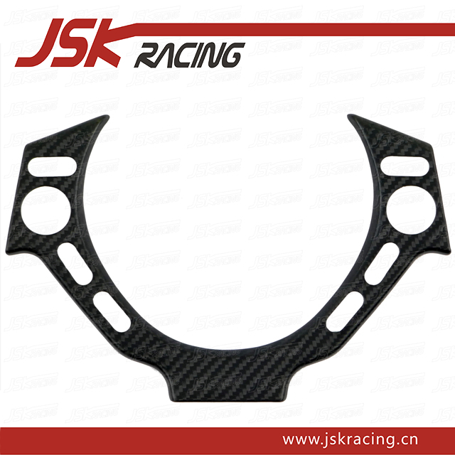 DRY CARBON FIBER STEERING WHEEL SWITCH PLATE COVER FOR 2008-2015 NISSAN GTR R35 (JSK220988)(China (Mainland))